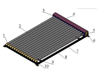 金属热管集热器
