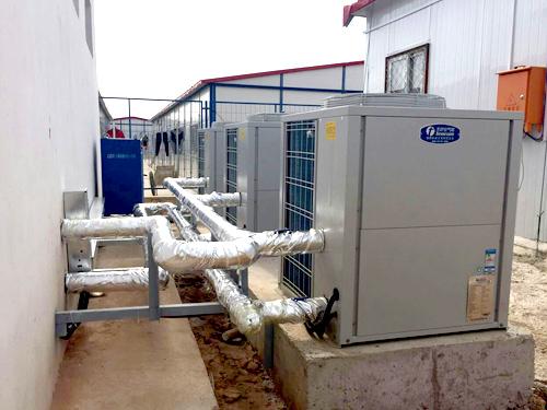 中国能源建设东北电力第一分公司空气源热水系统工程